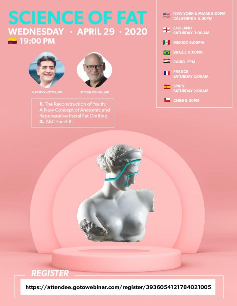 今日は Dr. Steven Cohen による最新の顔の若返り(脂肪注入を使った)のWEBセミナーでした