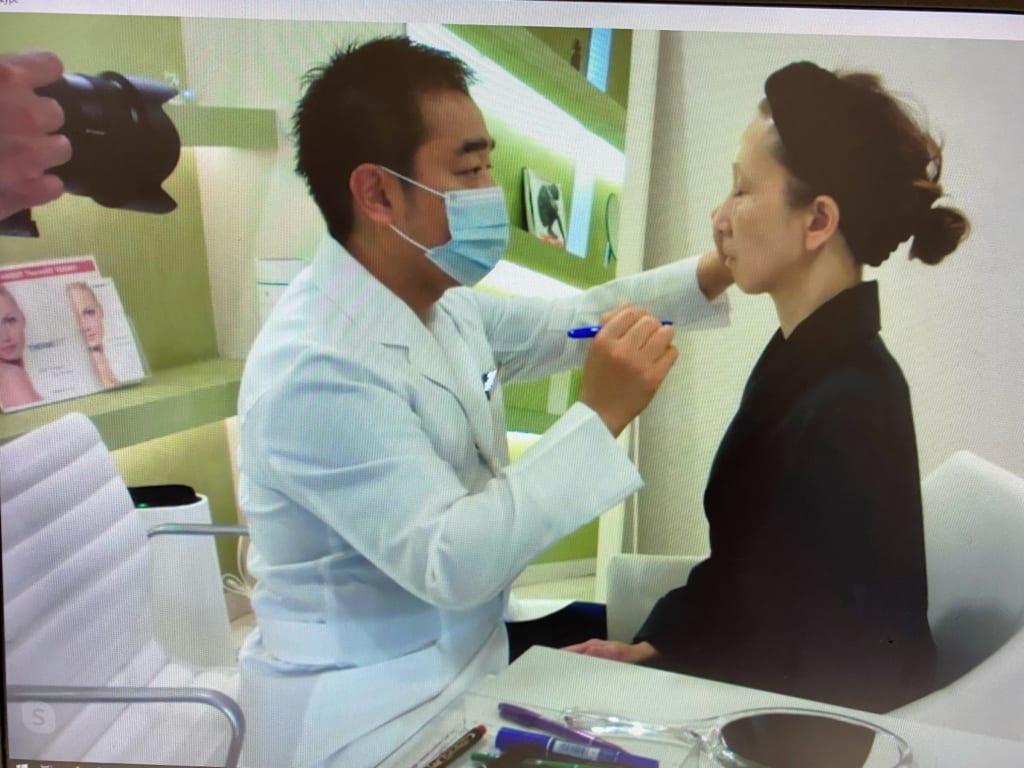 今日はテレビモニター様の手術(脂肪注入による顔の若返り)の撮影でした
